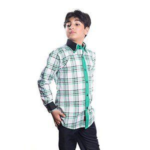 Elie Balleh green plaid button down shirt size 8